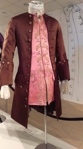 Comte St. Germain (Brown silk suit with pink silk embroidered waistcoat)