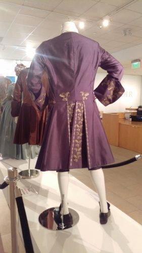 Back Details: Comte St. Germain (Purple embroidered silk suit with chartreuse waistcoat)