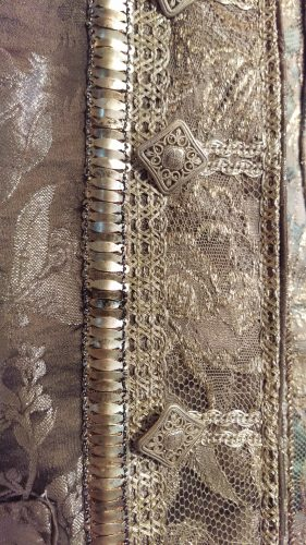 Metal Trim Details: Comte St. Germain (Silver suit with metal trim)