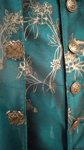 Paint Details: Comte St. Germain (Turquoise hand-painted silk suit)