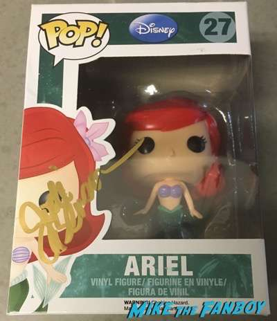Jodi Benson signed autograph ariel little mermaid funko pop vinyl