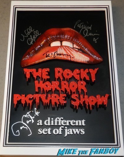 Rocky Horror Picture Show mcfarlane 3d poster signed autograph tim curry barry bostwick nell campbell patricia quinn Rocky Horror Picture Show mcfarlane 3d poster signed autograph tim curry barry bostwick nell campbell patricia quinn