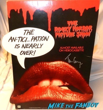 tim curry signed autograph Rocky Horror Picture Show counter stand standee