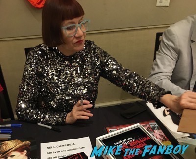 Nell Campbell signing autographs Rocky Horror Picture Show reunion 2016 hollywood Show 108