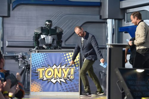 SYFY PRESENTS LIVE FROM COMIC-CON -- Season:2016 -- Pictured: (l-r) Tony Hale, Will Arnett -- (Photo by: Mike Windle/Syfy)