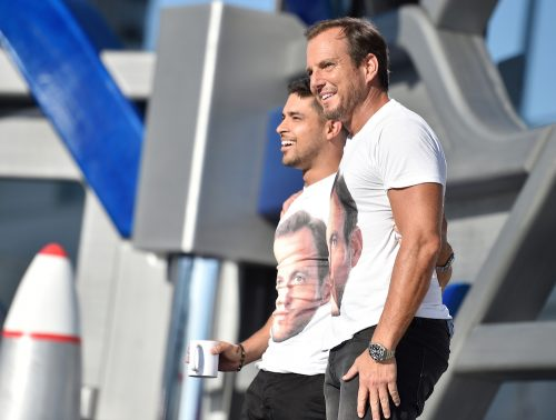 SYFY PRESENTS LIVE FROM COMIC-CON -- Season:2016 -- Pictured: (l-r) Wilmer Valderrama, Will Arnett -- (Photo by: Mike Windle/Syfy)