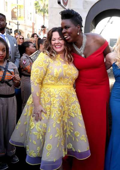 """Los Angeles, CA - Saturday, July 9, 2016: Melissa McCarthy and Leslie Jones are seen at the Los Angeles Premiere of Columbia Pictures' """"Ghostbusters"""" at TCL Chinese Theatre on Saturday, July 9, 2016, in Los Angeles. (Photo by Eric Charbonneau/Invision for Sony/AP Images)"""
