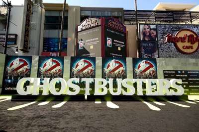 """Los Angeles, CA - Saturday, July 9, 2016: A general view of atmosphere is seen at the Los Angeles Premiere of Columbia Pictures' """"Ghostbusters"""" at TCL Chinese Theatre on Saturday, July 9, 2016, in Los Angeles. (Photo by Eric Charbonneau/Invision for Sony/AP Images)"""