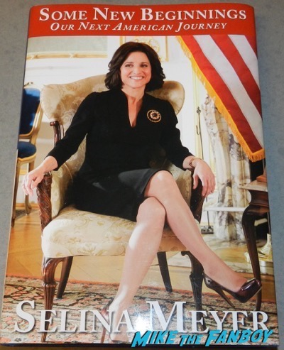 veep cast signed autograph promo book julia louise dreyfus