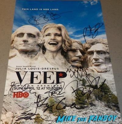 veep cast signed autograph poster julia louise dreyfus