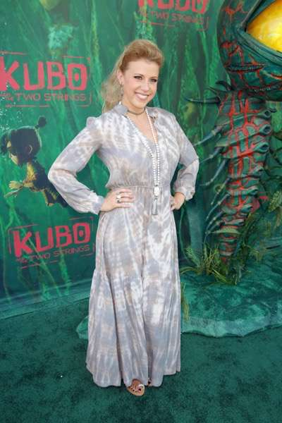 """Jodie Sweetin seen at Focus Features Los Angeles Premiere of LAIKA """"Kubo and The Two Strings"""" on Sunday, Aug. 14, 2016, in Universal City, Calif. (Photo by Blair Raughley/Invision for Focus Features/AP Images)"""