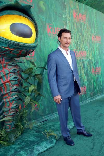 "Matthew McConaughey seen at Focus Features Los Angeles Premiere of LAIKA ""Kubo and The Two Strings"" on Sunday, Aug. 14, 2016, in Universal City, Calif. (Photo by Blair Raughley/Invision for Focus Features/AP Images)"
