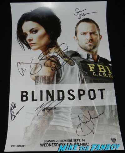 Blindspot signed autograph poster rare jamie alexander sullivan stapleton psa