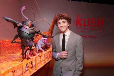 "Art Parkinson seen at Focus Features Los Angeles Premiere of LAIKA ""Kubo and The Two Strings"" on Sunday, Aug. 14, 2016, in Universal City, Calif. (Photo by Eric Charbonneau/Invision for Focus Features/AP Images)"