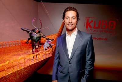 "Exclusive - Matthew McConaughey seen at Focus Features Los Angeles Premiere of LAIKA ""Kubo and The Two Strings"" on Sunday, Aug. 14, 2016, in Universal City, Calif. (Photo by Eric Charbonneau/Invision for Focus Features/AP Images)"
