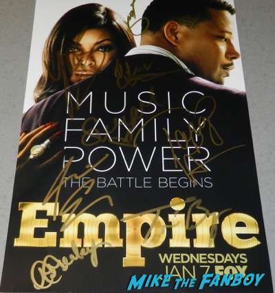 Empire season one cast signed autograph poster terrence howard Taraji P. Henson
