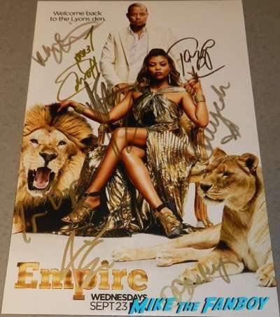 Empire season two cast signed autograph poster terrence howard Taraji P. Henson