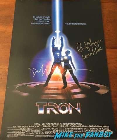 Jeff bridges signed autograph Tron poster PSA signature1