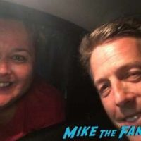 Hugh Grant fan photo meeting fans selfie rare 1