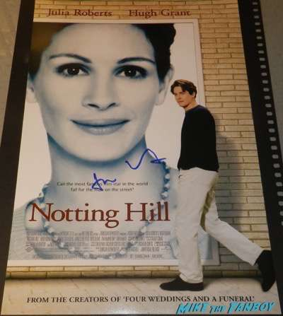 Hugh Grant signed autograph notting hill poster