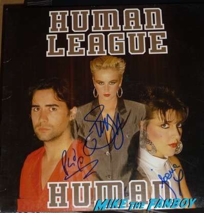 Human League signed autograph album PSA meeting fans Philip Oakey 3