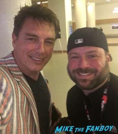 John Barrowman meeting fans signing autographs selfie rare 1