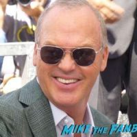 Michael Keaton walk of fame signing autographs star ceremony 1