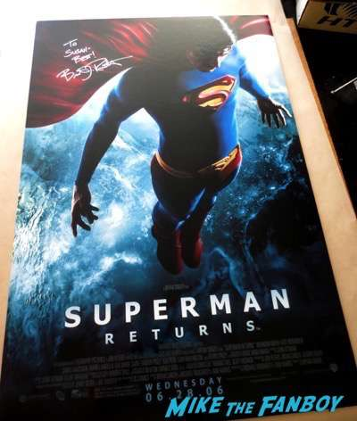 Brandon Routh signed autograph Superman Returns movie poster PSA