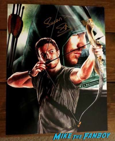 Stephen Amell signed autograph art poster promo PSA