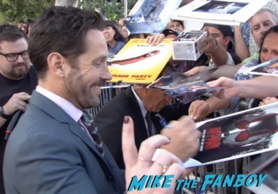 Paul Rudd signing autographs Sausage Party Los Angeles Premiere paul rudd seth rogan signing autographs meeting fans 6
