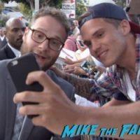 Seth Rogan signing autographs Sausage Party Los Angeles Premiere paul rudd seth rogan signing autographs meeting fans 6