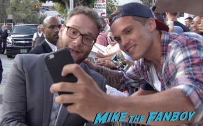 Seth Rogan signing autographs Sausage Party Los Angeles Premiere paul rudd seth rogan signing autographs meeting fans 6