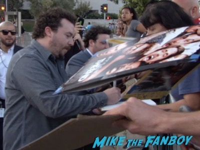 Danny McBride signing autographs Sausage Party Los Angeles Premiere paul rudd seth rogan signing autographs meeting fans 6