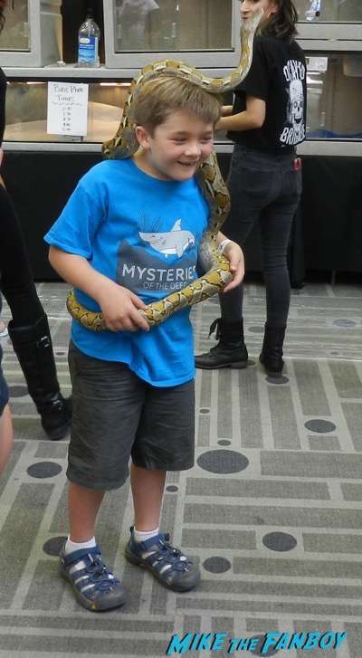 kids with snake ScareLA Cosplay 2016 horror costumes 26