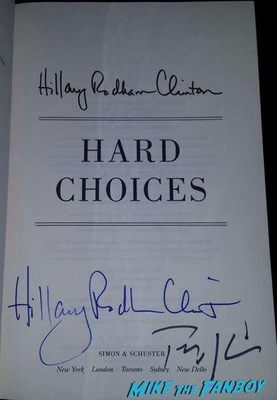 Tim Kaine signed autograph hard choices book hillary clinton