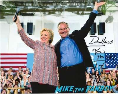 Tim Kaine signed autograph photo