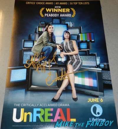 Unreal signed autograph season 2 poster constance zimmer shiri appleby
