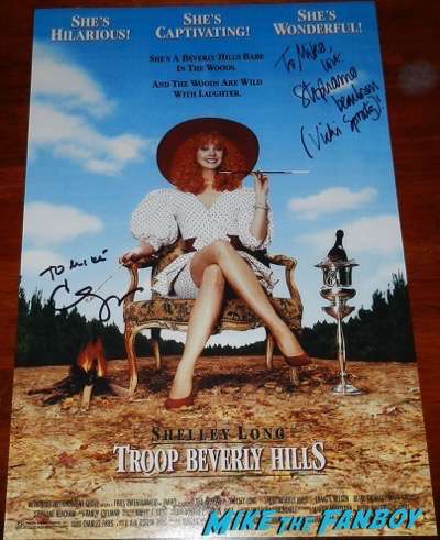 carla gugino signed autograph troop beverly hills poster