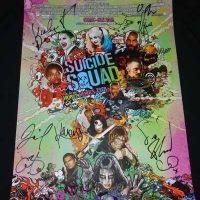 suicide squad cast autograph poster comic con 2016 sdcc