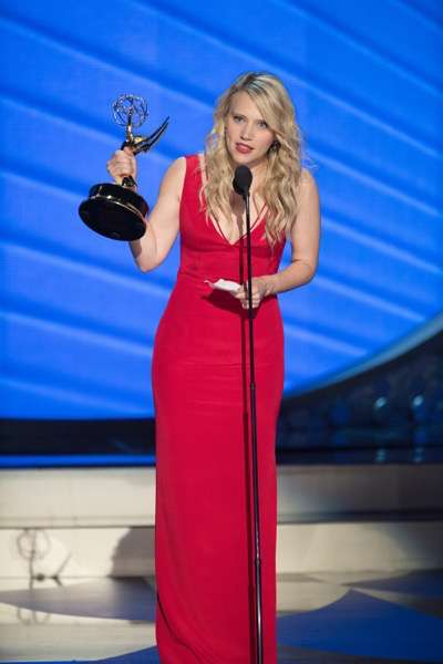 """THE 68TH EMMY(r) AWARDS - """"The 68th Emmy Awards"""" broadcasts live from The Microsoft Theater in Los Angeles, Sunday, September 18 (7:00-11:00 p.m. EDT/4:00-8:00 p.m. PDT), on ABC and is hosted by Jimmy Kimmel. (ABC/Image Group LA) KATE MCKINNON"""