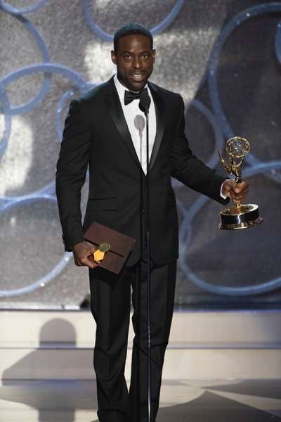 """THE 68TH EMMY(r) AWARDS - """"The 68th Emmy Awards"""" broadcasts live from The Microsoft Theater in Los Angeles, Sunday, September 18 (7:00-11:00 p.m. EDT/4:00-8:00 p.m. PDT), on ABC and is hosted by Jimmy Kimmel. (ABC/Image Group LA) STERLING K. BROWN"""