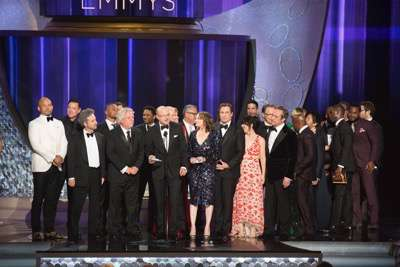 """THE 68TH EMMY(r) AWARDS - """"The 68th Emmy Awards"""" broadcasts live from The Microsoft Theater in Los Angeles, Sunday, September 18 (7:00-11:00 p.m. EDT/4:00-8:00 p.m. PDT), on ABC and is hosted by Jimmy Kimmel. (ABC/Image Group LA) CAST AND CREW OF """"THE PEOPLE V. O.J. SIMPSON: AMERICAN CRIME STORY"""""""