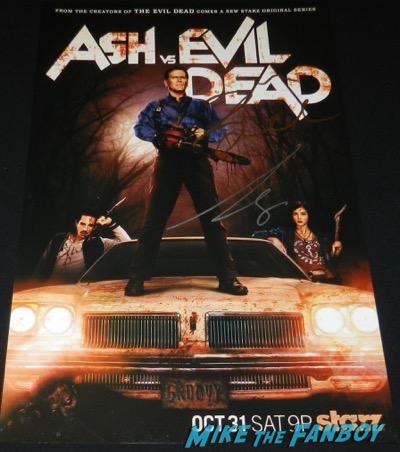 ash vs evil dead signed autograph poster bruce campbell Dana DeLorenzo