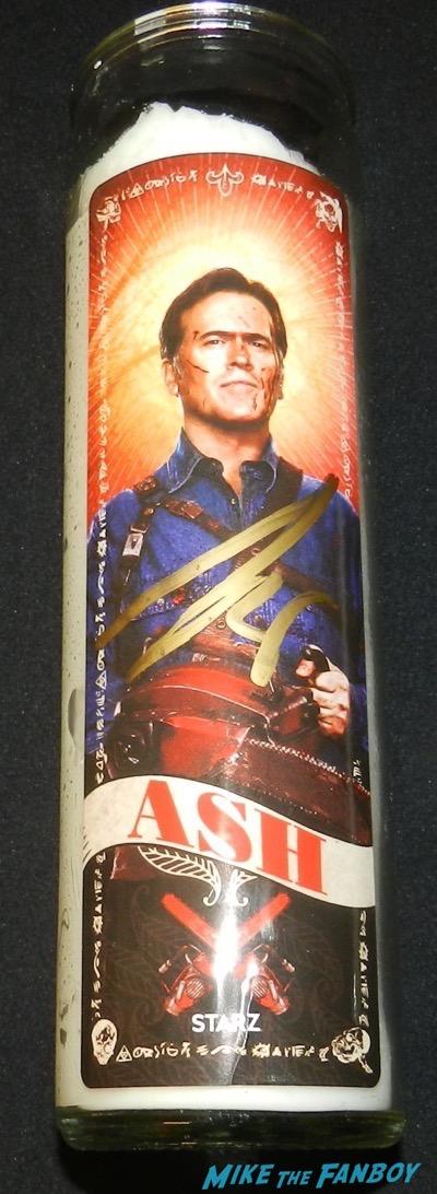bruce campbell signed autograph ash vs evil dead promo candle