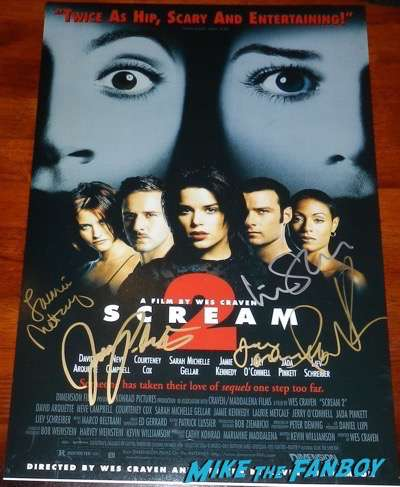 Jerry O'Connell Signed autograph scream 2 poster PSA