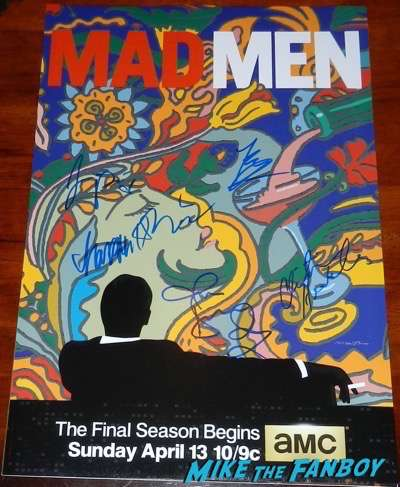 christina-hendricks-signed autograph mad mad final season poster psa