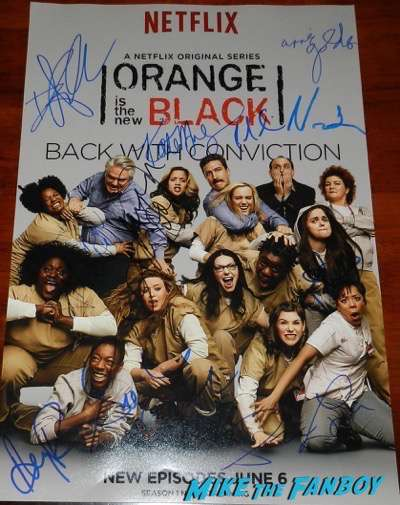 orange is the new black signed autograph poster season 2