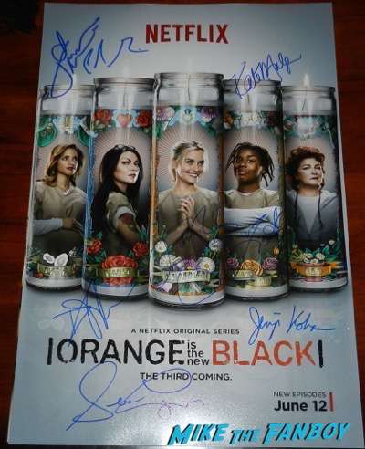 orange is the new black signed autograph poster season 3