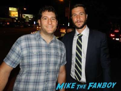 Pablo Schreiber-signing-autographs-2016-emmy-party-lana-parilla-photobomb91