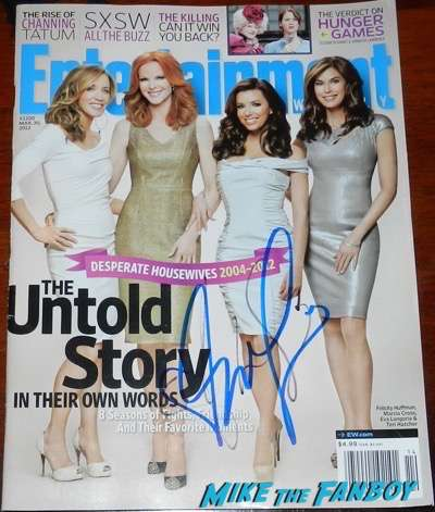 Eva Longoria Signed autograph desperate housewives magazine